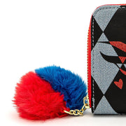 LOUNGEFLY X DC COMICS BIRDS OF PREY HARLEY EYES ZIP AROUND WALLET - ZIPPER DETAIL