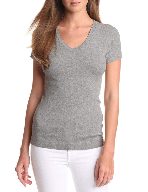 Essential Heritage Knit V-Neck Tee