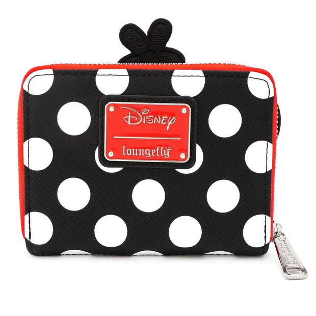 LOUNGEFLY X DISNEY POSITIVELY MINNIE POLKA DOT ZIP AROUND WALLET - BACK
