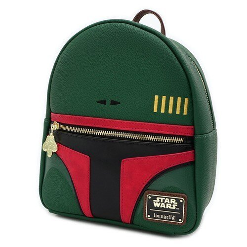Loungefly Star Wars Boba Fett Faux Leather Mini Backpack - SIDE