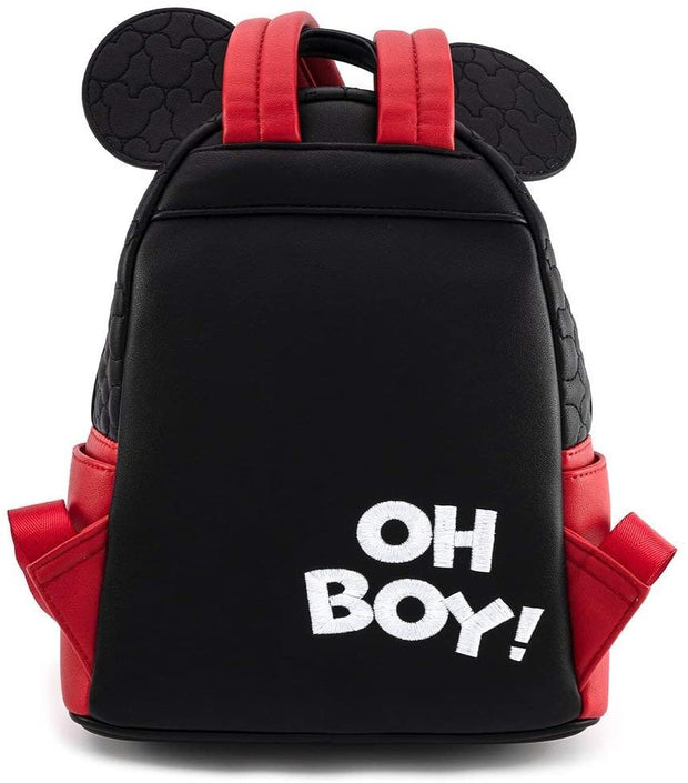 Disney Mickey Mouse Oh Boy Quilted Cosplay Mini Backpack
