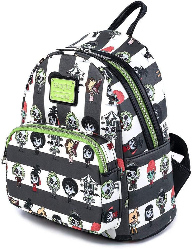 Beetlejuice Chibi Allover Print Mini Backpack