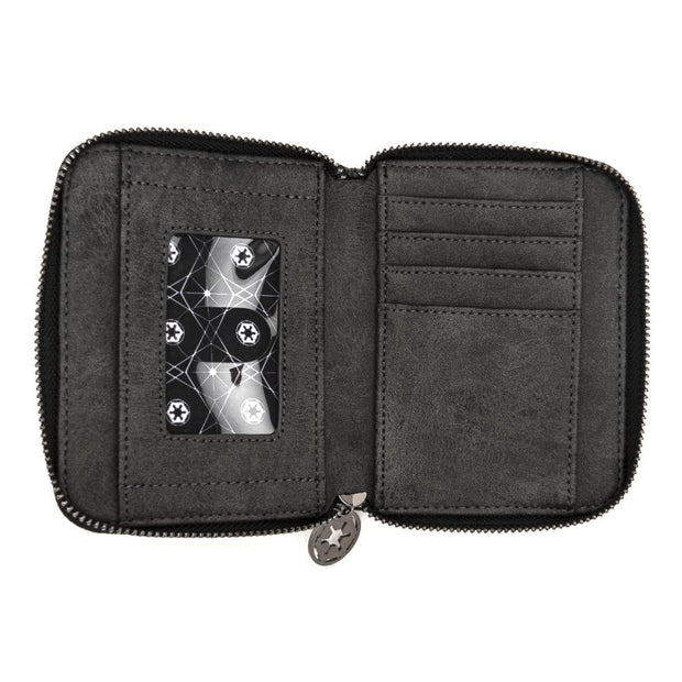Loungefly x Star Wars Darth Vader Head Zip-Around Wallet - INSIDE