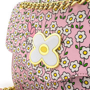 Loungefly x Sanrio My Melody Flower Field Patterned Crossbody Purse - DETAIL