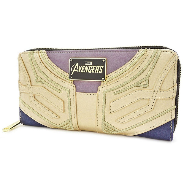 Loungefly Marvel Infinity Gauntlet Faux Leather Zip Wallet - SIDE