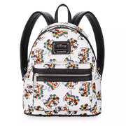 Loungefly Disney's Mickey Mouse Rainbow Mini Backpack - FRONT