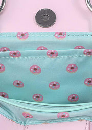Pusheen Donuts Allover Print Cosplay Crossbody Bag