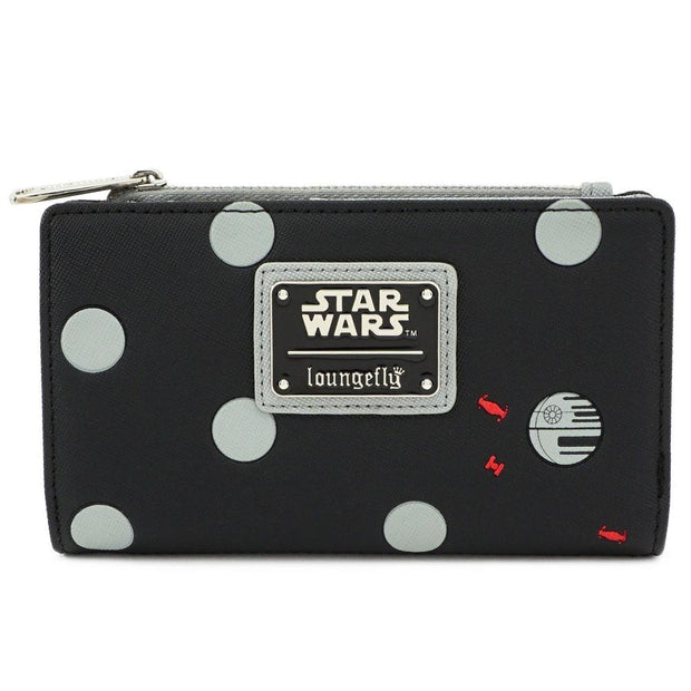 Loungefly x Star Wars Polka Dot Death Star Patterned Wallet - FRONT