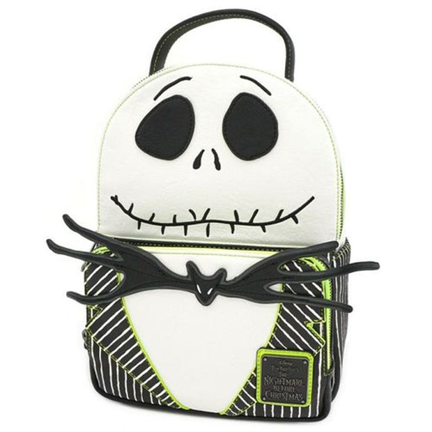 Loungefly x Nightmare Before Christmas Jack Skellington Cosplay Mini Backpack - SIDE