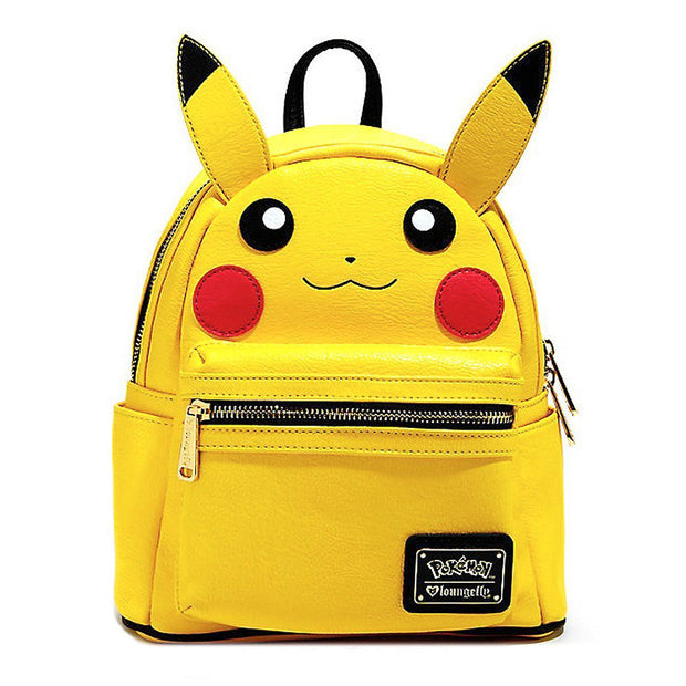 Loungefly x Pokemon Pikachu Face Mini-Backpack - FRONT