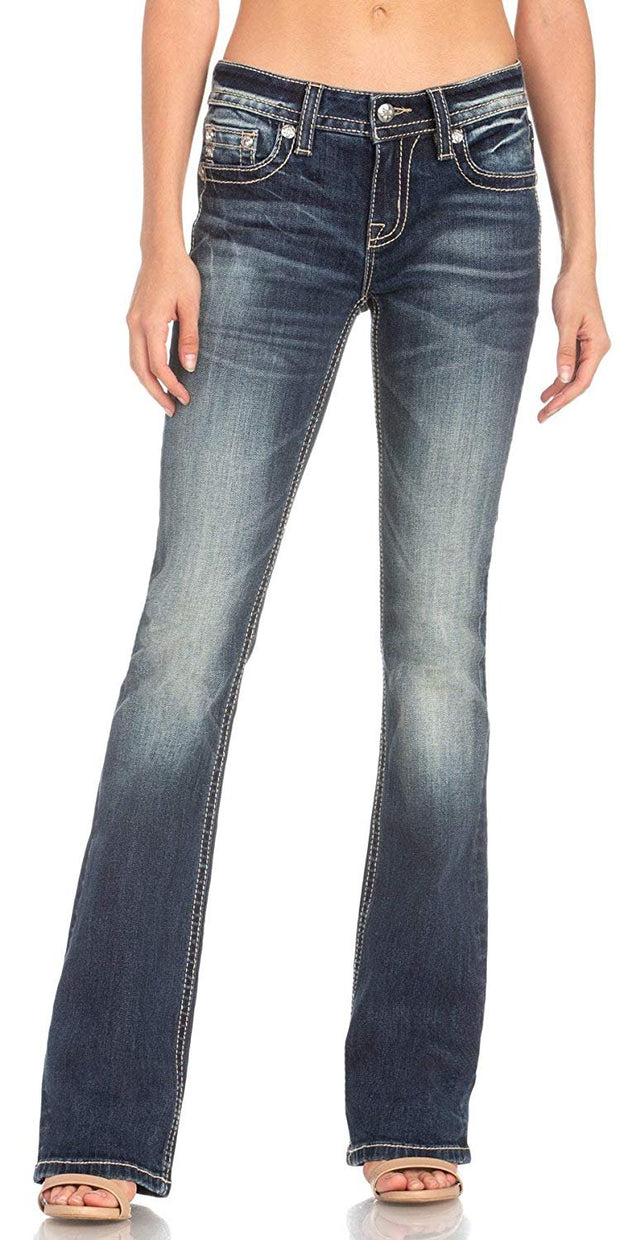 Abstract Diamond Bootcut Jeans