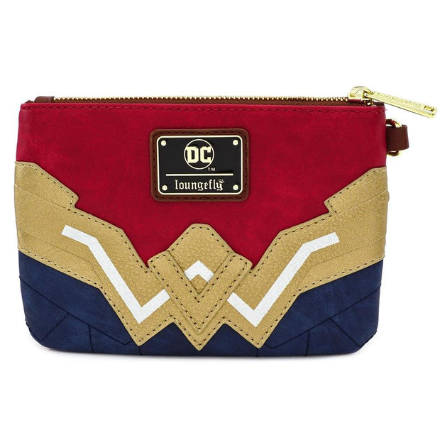 LOUNGEFLY X DC COMICS WONDER WOMAN COSPLAY WRISTLET - FRONT