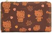 Sanrio Hello Kitty Pumpkin Spice Allover Print Flap Wallet