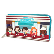 LOUNGEFLY X STRANGER THINGS STARCOURT MALL CHIBI AOP WALLET - SIDE