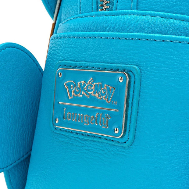 Loungefly x Pokemon Squirtle Cosplay Faux Leather Mini Backpack - LOGO DETAIL