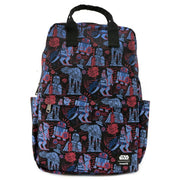 LOUNGEFLY X STAR WARS EMPIRE STRIKES BACK 40TH ANNIVERSARY AOP SQUARE NYLON BACKPACK - FRONT