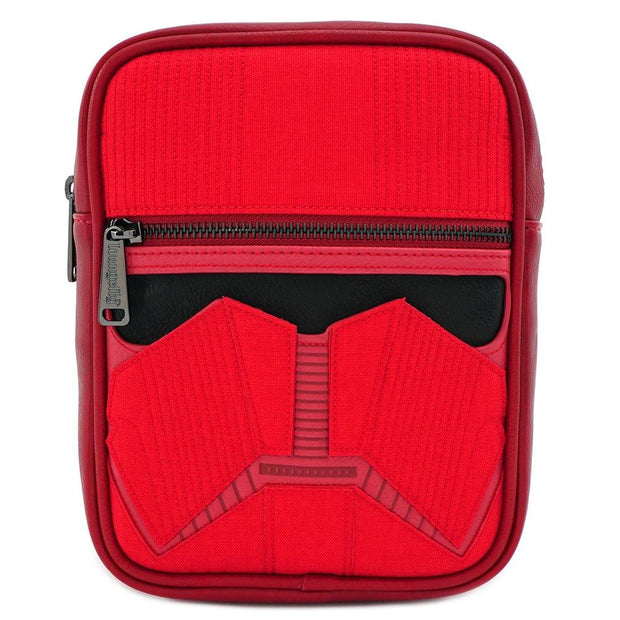 LOUNGEFLY X STAR WARS RED SITH TROOPER CROSSBODY BAG - FRONT