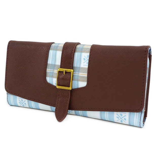 LOUNGEFLY X HARRY POTTER HOGWARTS PLAID FLAP WALLET - SIDE
