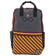 LOUNGEFLY X HARRY POTTER BOLT GLASSES SQUARE NYLON BACKPACK - FRONT