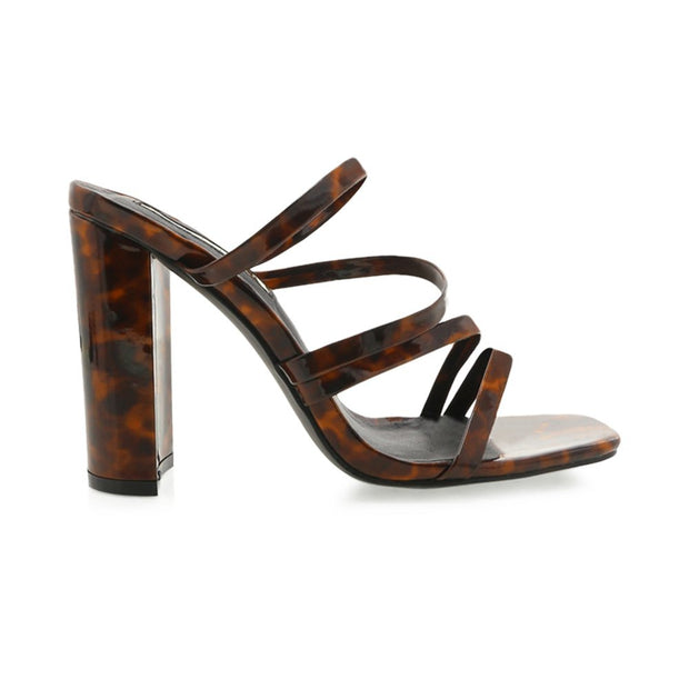Verona Square-Toe Block Sandals