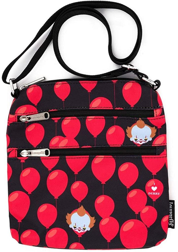 IT Pennywise I Heart Derry Allover Print Nylon Passport Bag