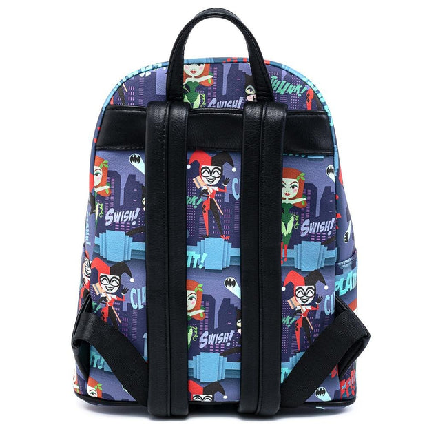 DC Comics Gotham City Sirens Allover Print Mini Backpack