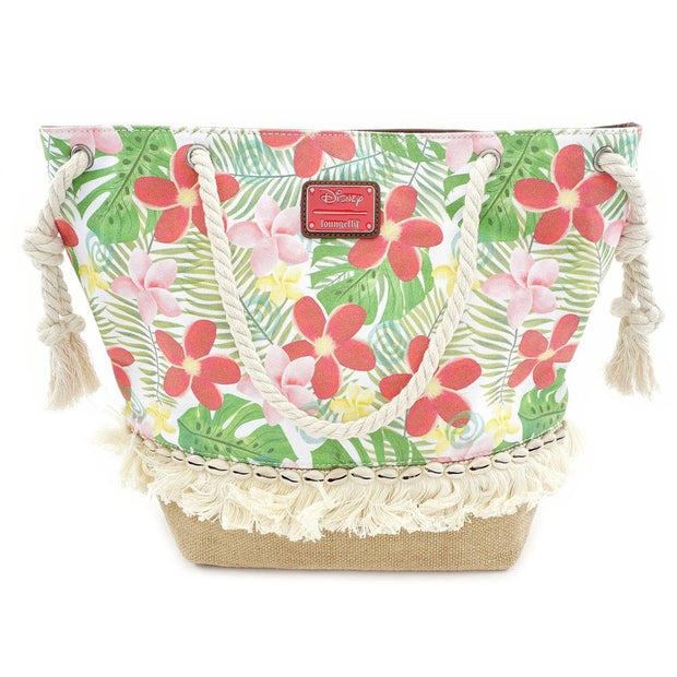 LOUNGEFLY X MOANA FLORAL TOTE BAG - BACK