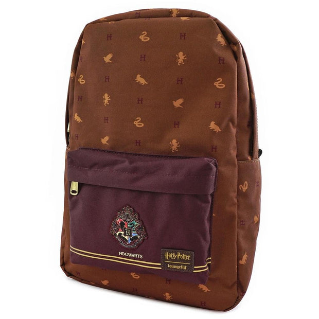 LOUNGEFLY X HARRY POTTER HOGWARTS HOUSES BACKPACK - SIDE