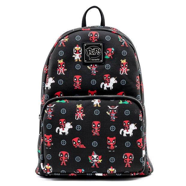 Funko POP! Marvel Deadpool 30th Anniversary Allover Print Mini Backpack - Front
