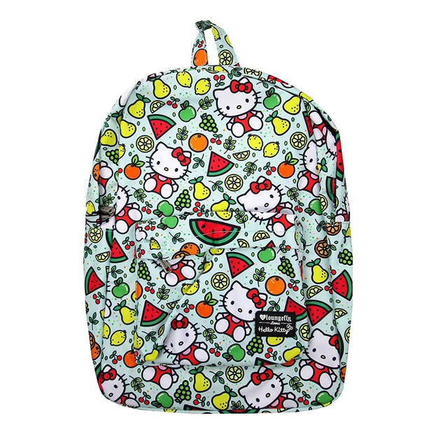 Loungefly x Hello Kitty Fruit Allover-Print Nylon Backpack - FRONT