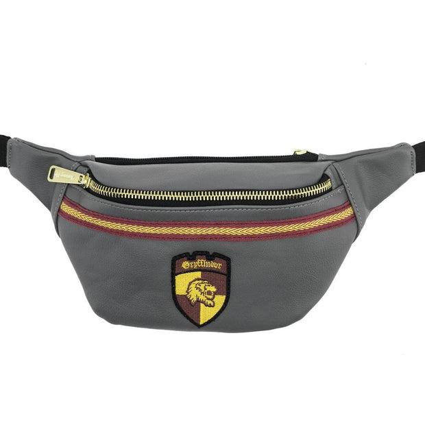 LOUNGEFLY X HARRY POTTER GREY GRYFFINDOR CREST FANNY PACK - FRONT