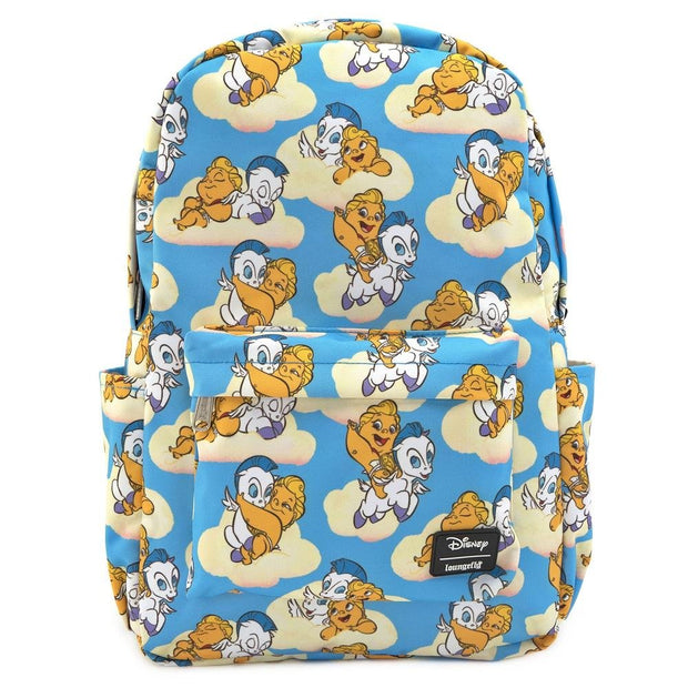 LOUNGEFLY X DISNEY HERCULES BABY HERC AND PEGASUS NYLON BACKPACK - FRONT
