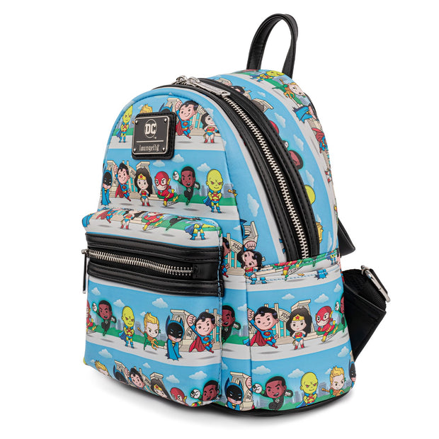 DC Comics Superheroes Chibi Lineup Mini Backpack - May Preorder