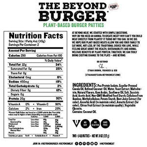 Beyond Burger 3oz. - 4 pc x 85gr (small) per pack
