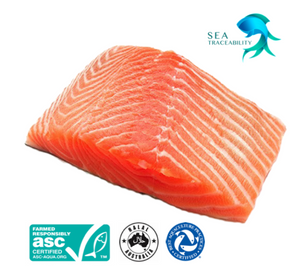 TASMANIAN SALMON • Filet • Fresh Skin On • Approx. 1.5 kg
