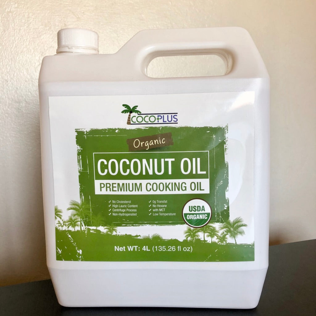 Certified Organic Coconut Cooking Oil 4 Liter