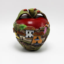 Load image into Gallery viewer, Red  Ceramic Apple  sculpture (small)
