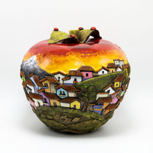 Load image into Gallery viewer, Red Ceramic Apple sculpture (large)