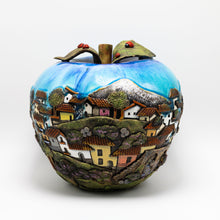 Load image into Gallery viewer, Light blue Ceramic Apple sculpture (large)