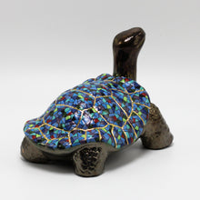 Load image into Gallery viewer, Blue Ceramic Galapagos Tortoise sculpture