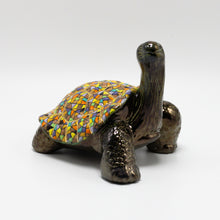 Load image into Gallery viewer, Yellow Ceramic Galapagos Tortoise sculpture