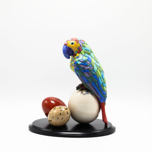 Ceramic Amazon Parrot 2 sculpture