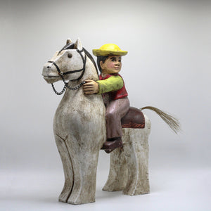 "Wood ""Montubio"" and horse."