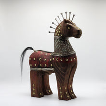 Load image into Gallery viewer, Wood Mahogany horse.