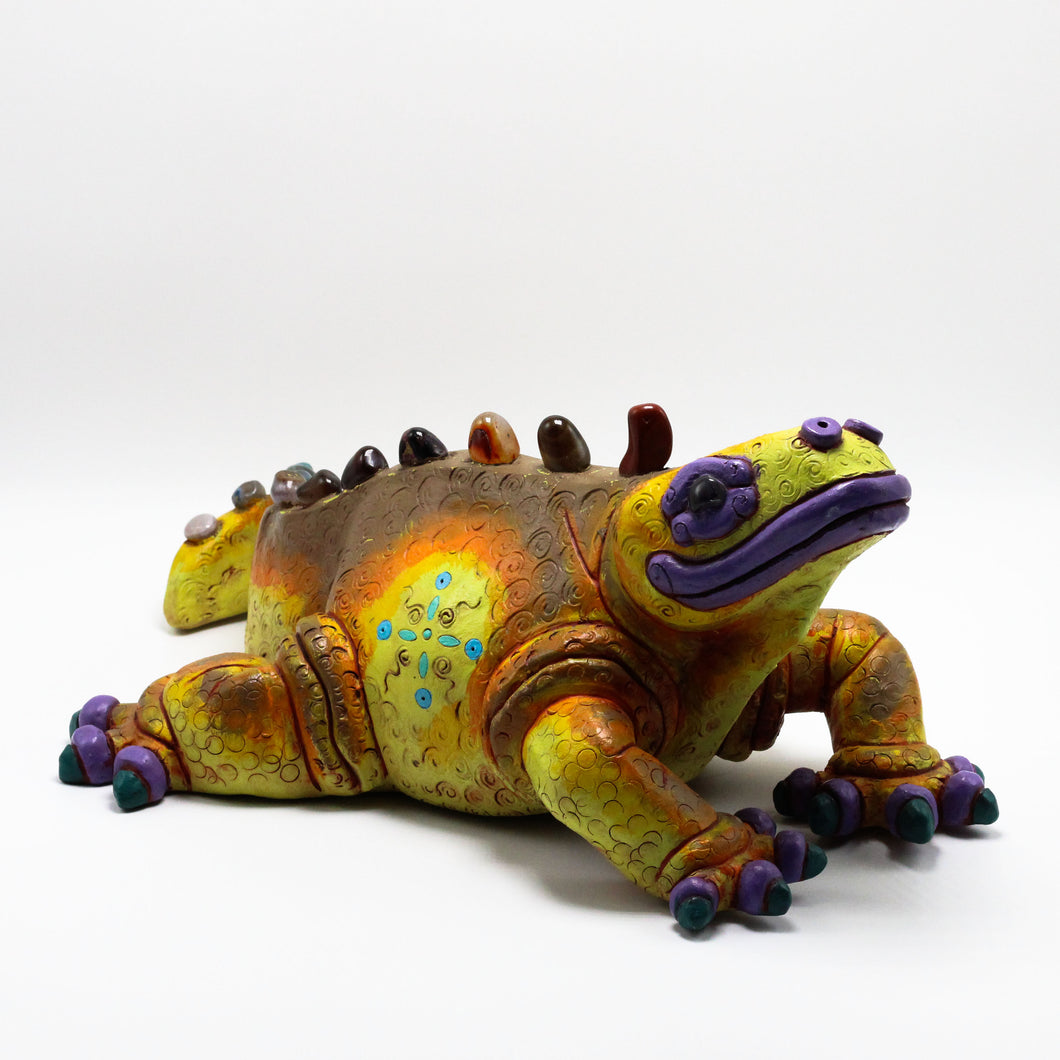 Ceramic Modeled Iguana.