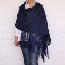 Load image into Gallery viewer, Navy Blue Shawl