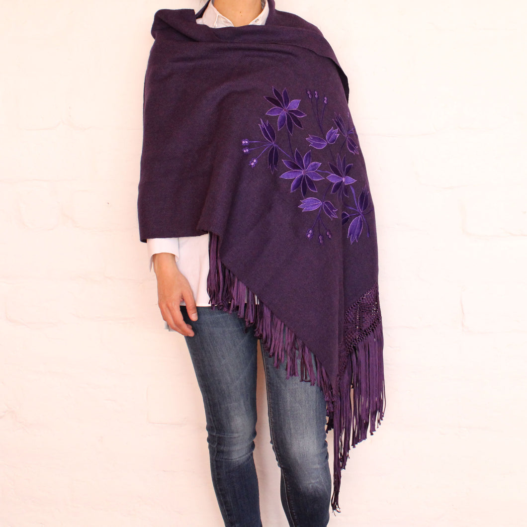 Purple Shawl 1