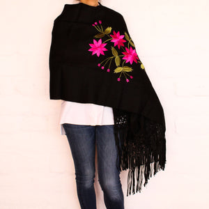 Black Shawl Fuchsia flowers