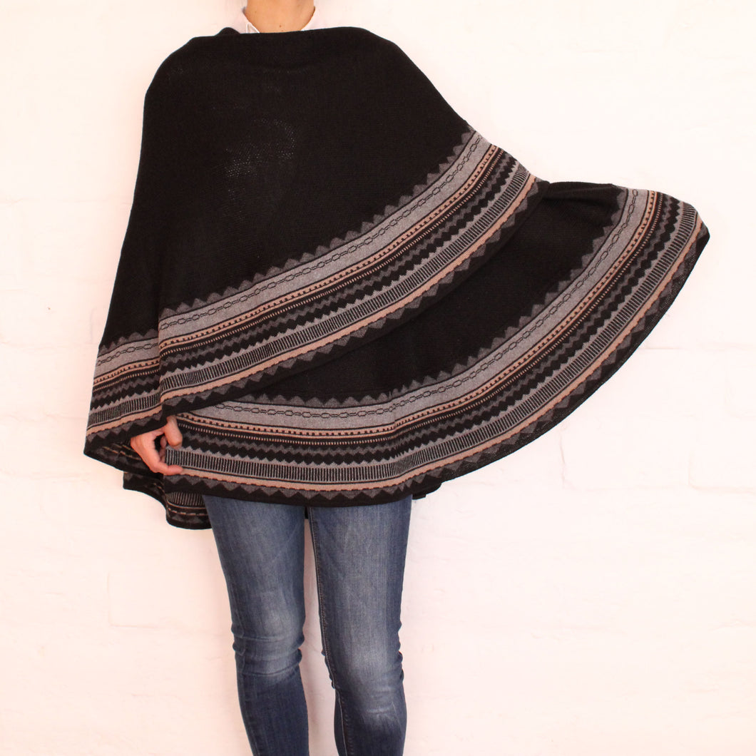Black and Gray Cape