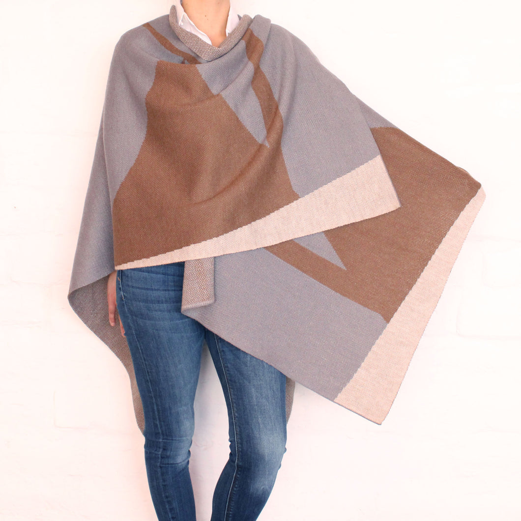 Gray and Khaki Cape